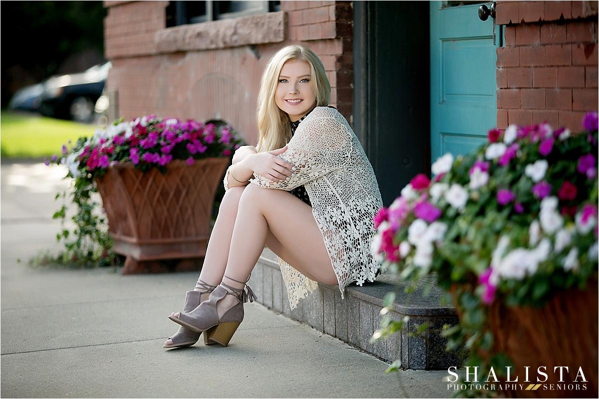 Senior Girl on steps