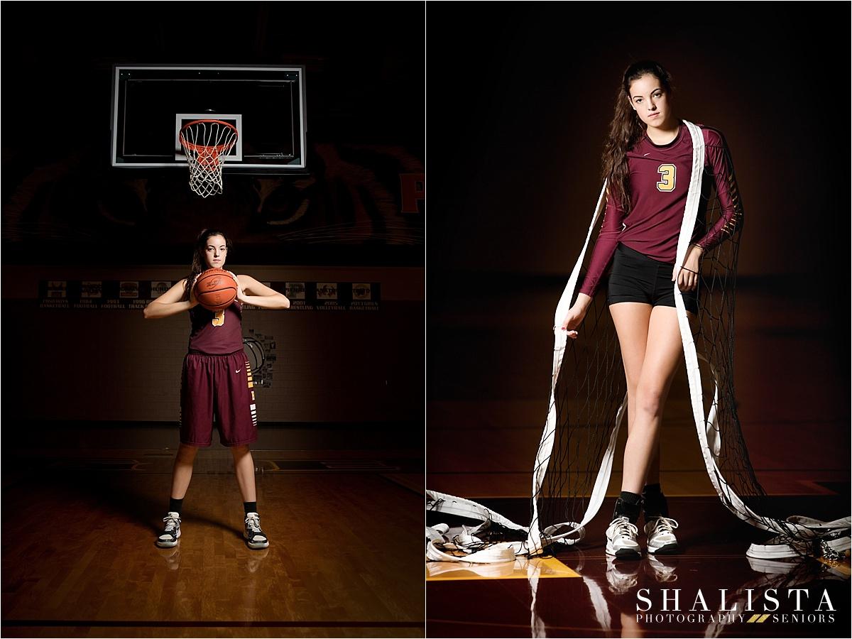 Volleyball and basketball senior photos