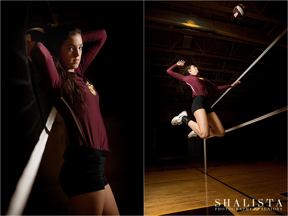 Senior Volleyball sports poses