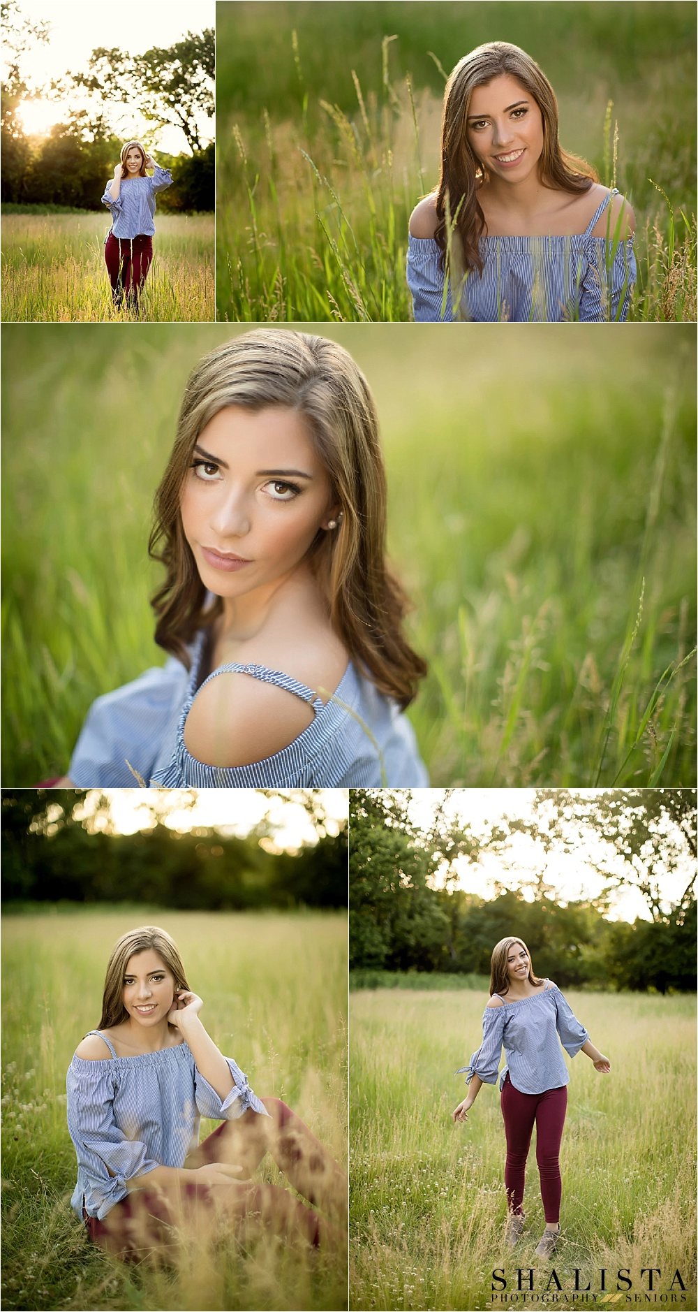 Outdoor sunset senior girl images.