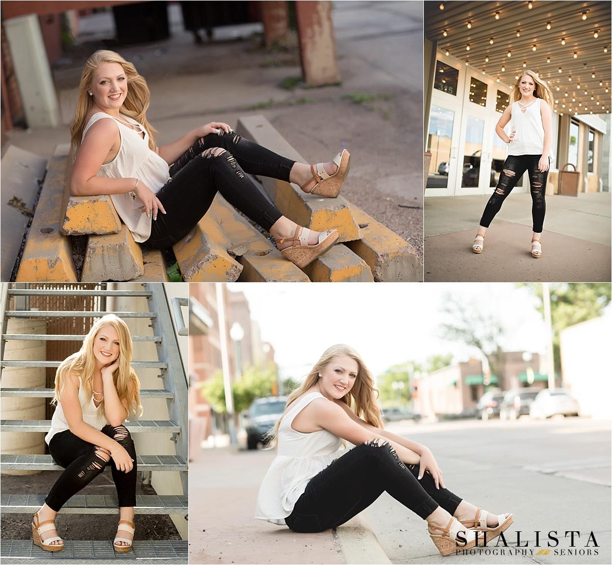Downtown Sioux Falls Senior Girl Portraits