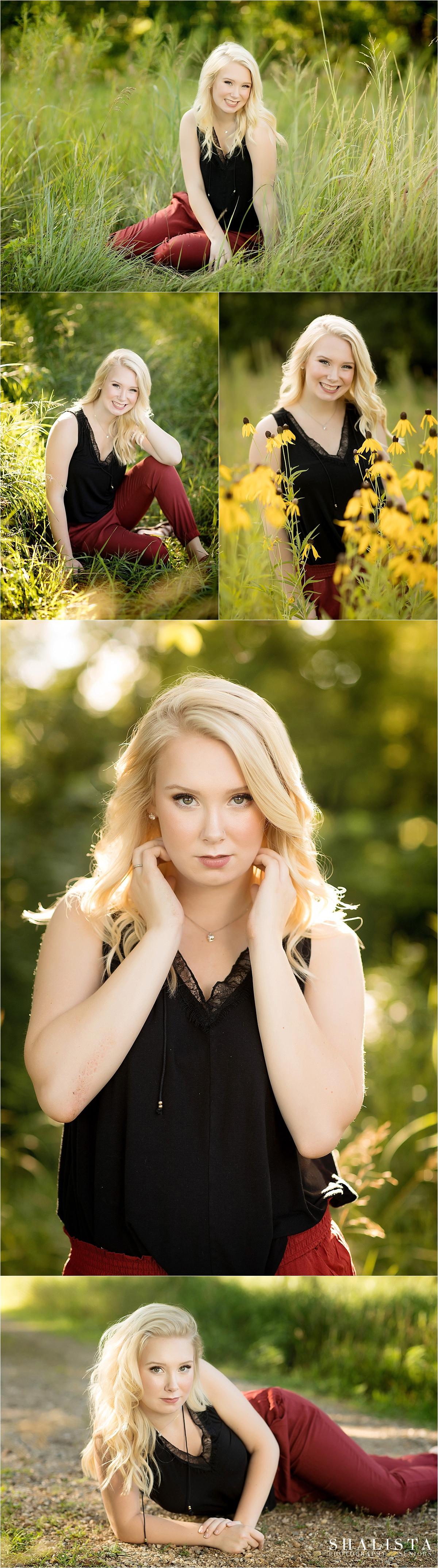 Beautiful summer senior girl photography