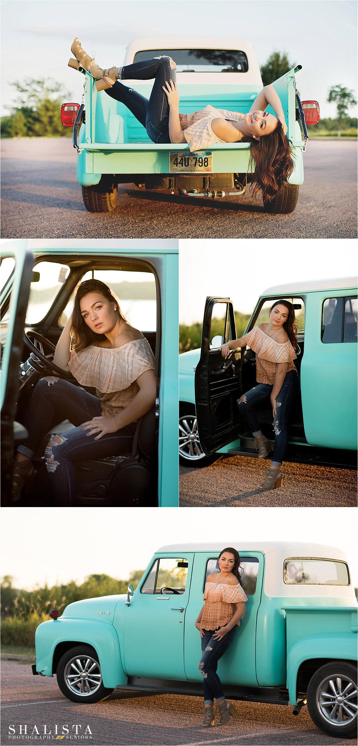 Julie - Vintage Blue Truck