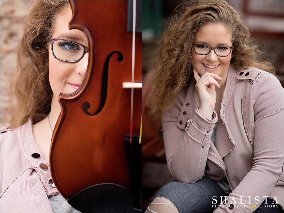 Senior girl with cello