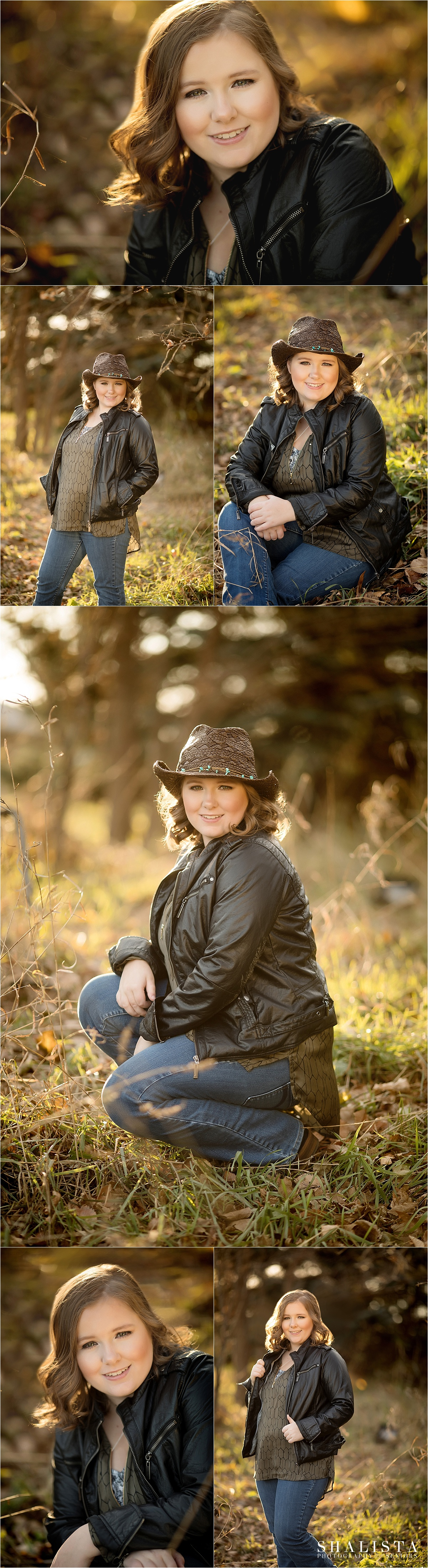 Fall Senior Girl photos in golden hour.
