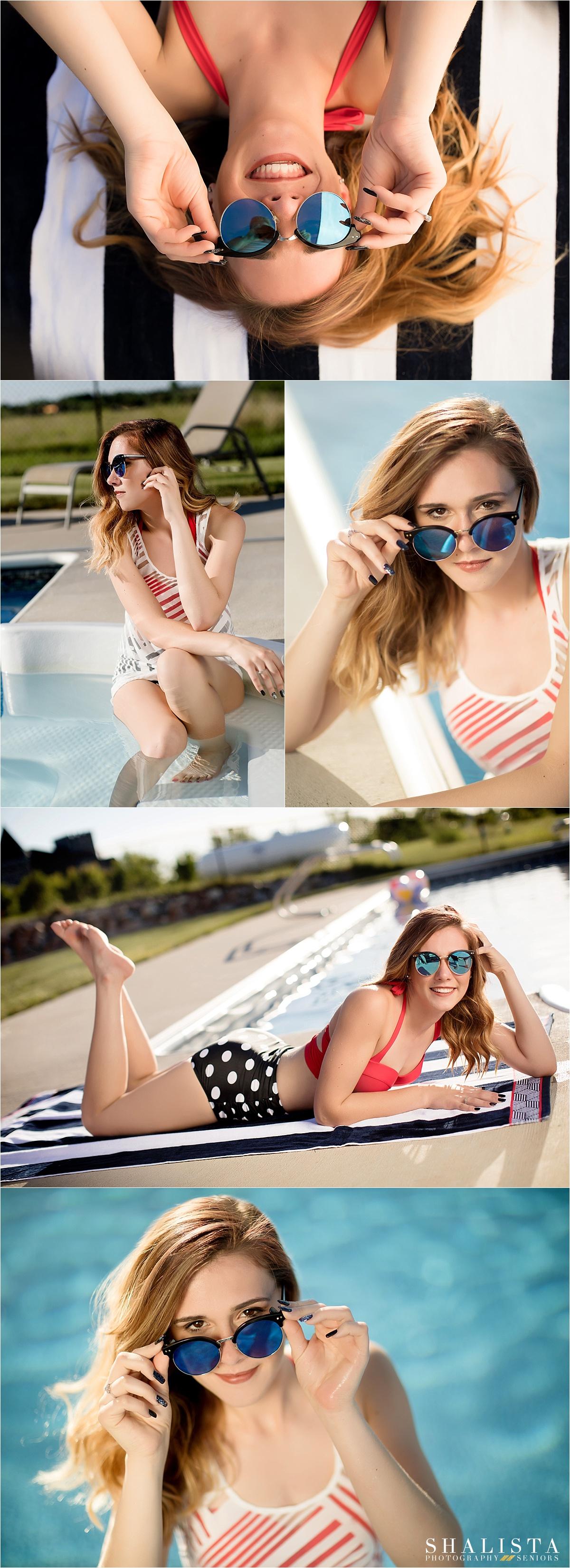 Summer Pool Senior Girl Photos