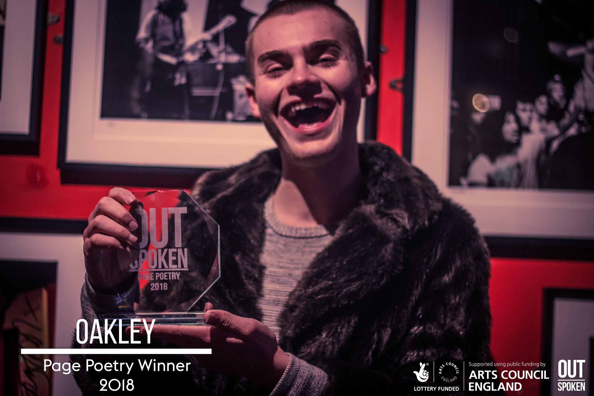 Page Winner: Oakley - Click to read poem