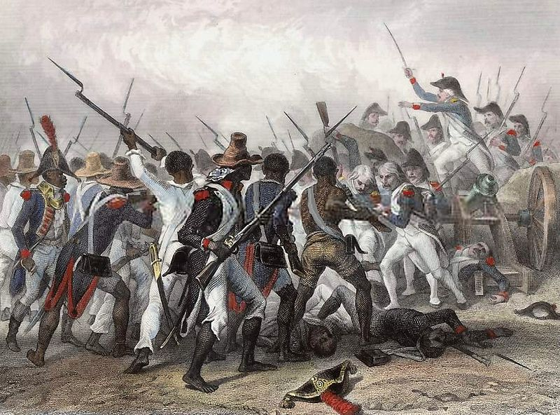 Auguste Raffet's depiction of the Battle of Vertières in 1803, a decisive win for the Haitian rebels that ended the war.