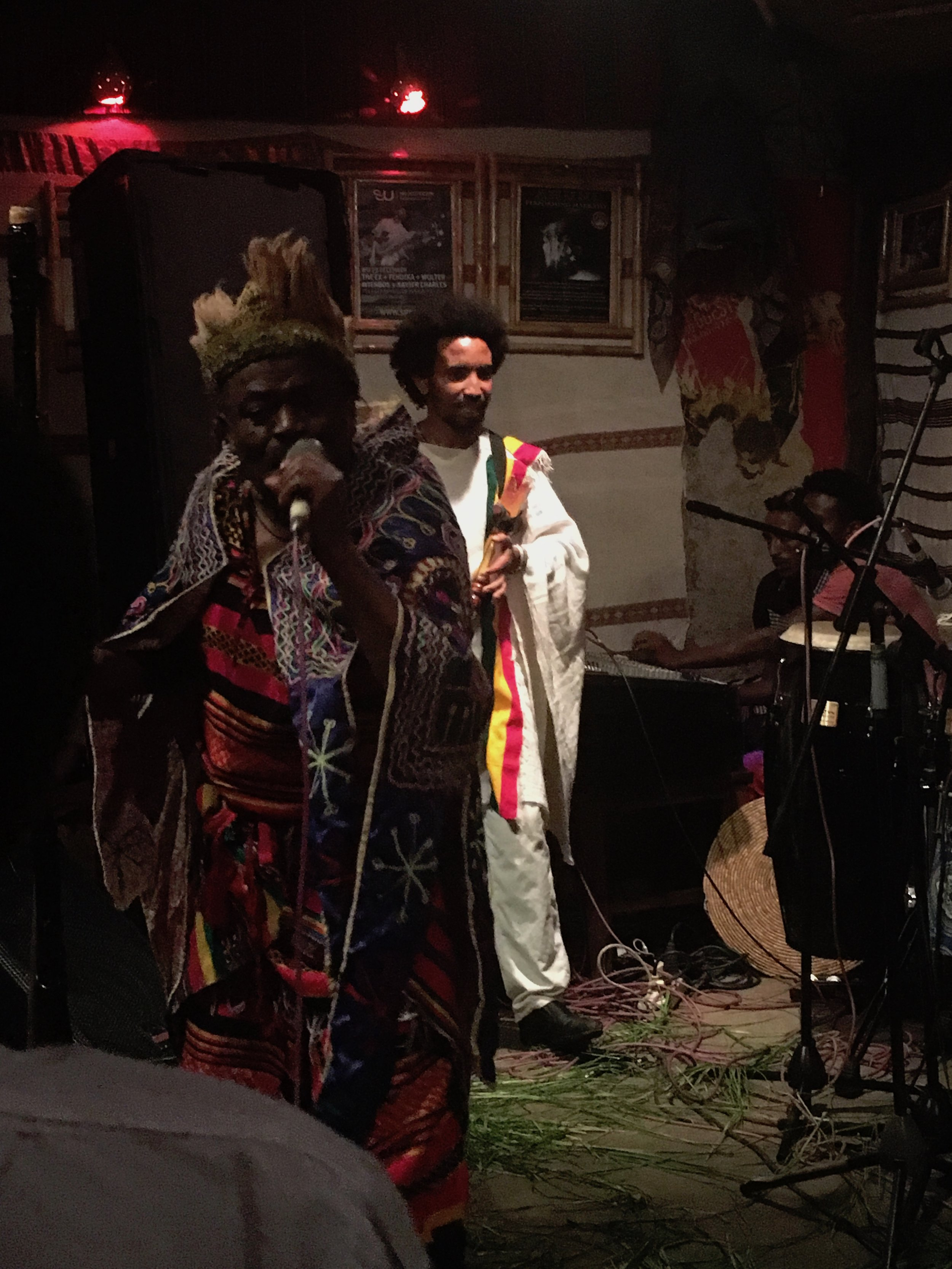 Fendika, a popular cultural bar, music club, and performance venue.