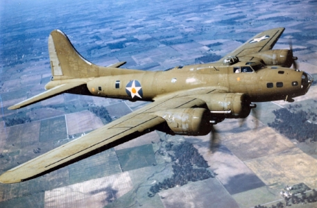 B-17 Flying Fortress: Oscar Rome was the right waist gunner, which means he manned a .50 caliber machine gun from the small black window to the left of the star on the fuselage