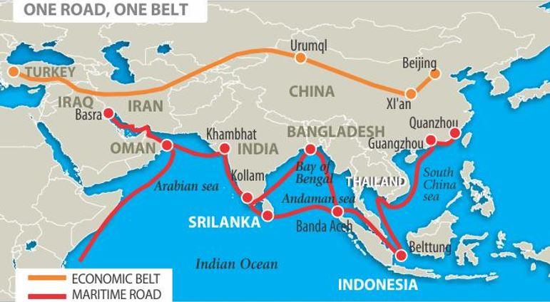 Figure 3: China's One Belt, One Road Initiative [iii]