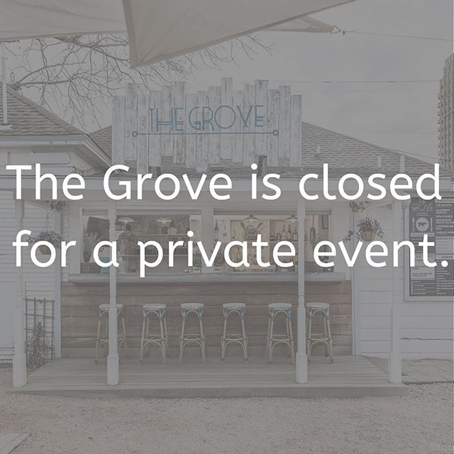 Breaking news: We are closed tonight for a private event but will reopen tomorrow weather permitting at 11:30 AM!