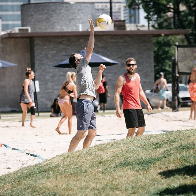 Set up the week with a pick up volleyball game at The Grove!
