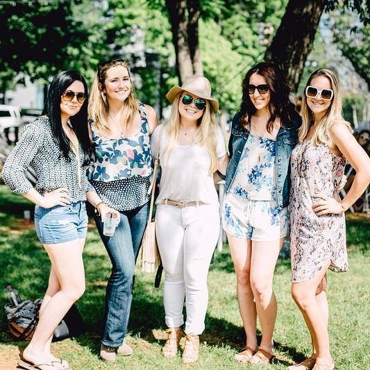 Let's go girls! The Grove is a getaway where you can enjoy the shade of our trees and drink Rosé in the breeze.