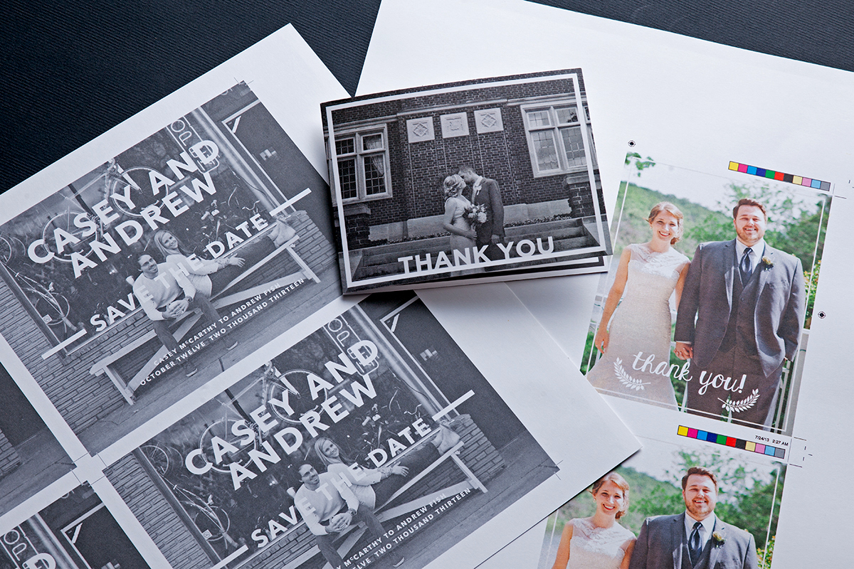 Save-The-Date Cards and Thank-Yous. Available with Embedded Magnets