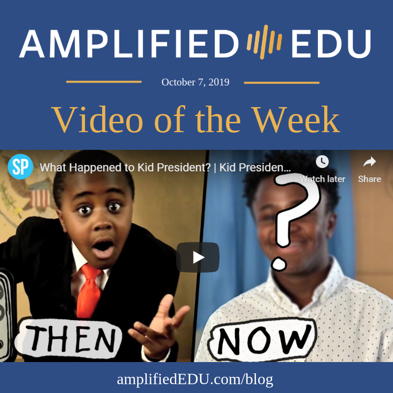 Video of the Week - What Happened to Kid President?