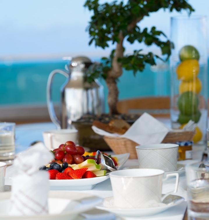 Breakfast setting on the sun deck.jpg