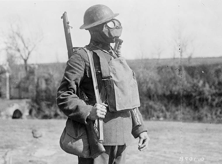 Chlorine was used during World War I (1914–1918) as a chemical warfare agent.