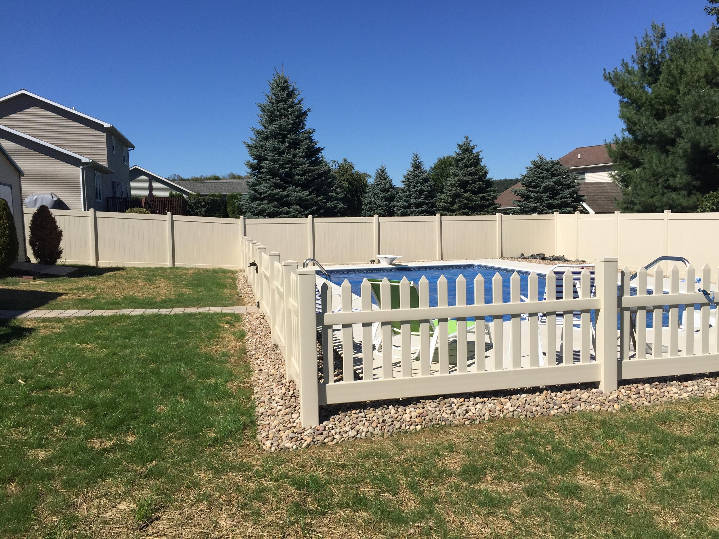 Custom Pool with Fence
