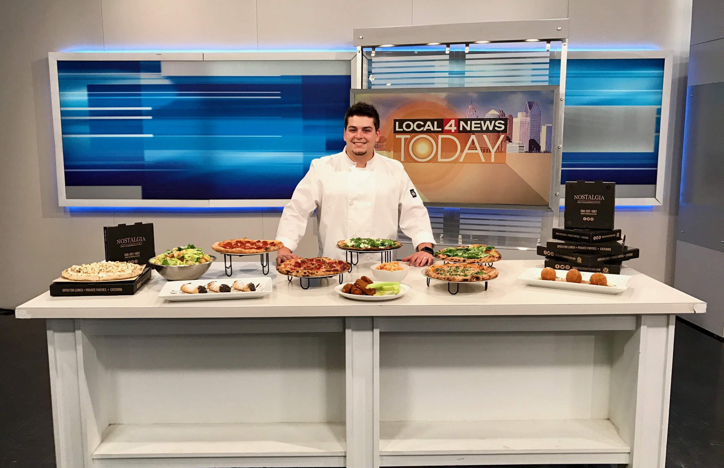 Chef Mario during a segment of Tasty Tuesdays on WDIV Channel 4, Detroit (2017).