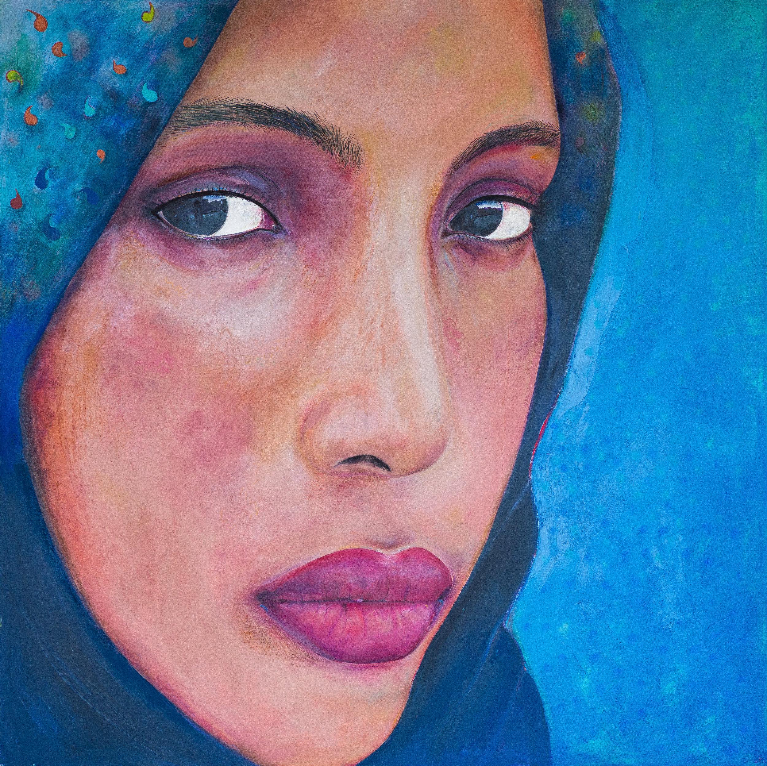 Maryama, 2015, oil on canvas, 4' x 4'