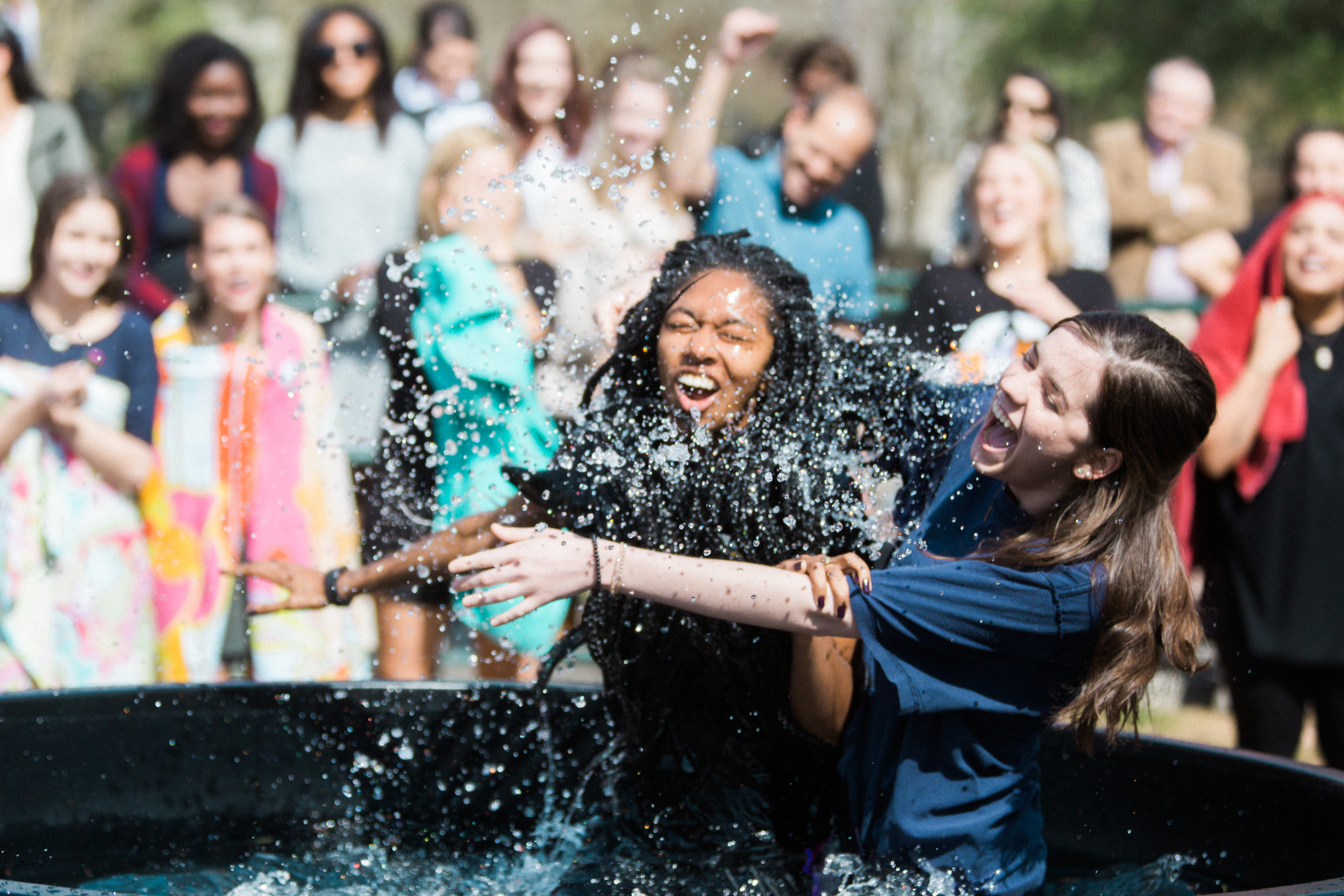 Would you like to be baptized at our next Baptism Sunday? If so please talk to your Lifegroup leader or click  here .