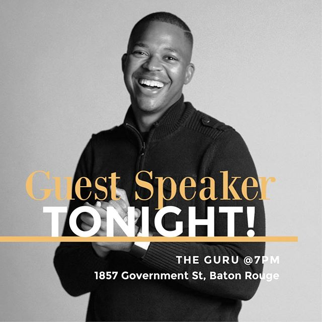 TONIGHT at The Guru (1857 Government St, Baton Rouge) at 7PM! ⠀⠀⠀⠀⠀⠀⠀⠀⠀ We are so excited for tonight! If your planning anything this week, it needs to be coming to YA Service! Invite your friends and coworkers and come ready for something BIG!