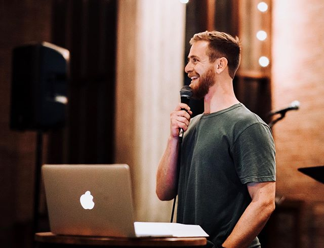 """This past Thursday we had our monthly college service! We got to hear from one of our college pastors, Kendall, about insecurity and how God carries our """"packs"""" for us. We are looking forward to our next college service!"""