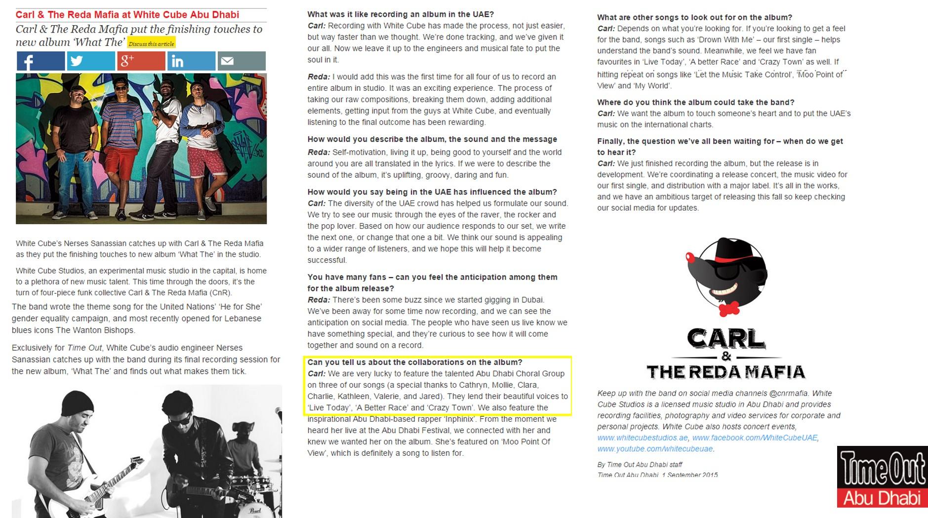Carl & The Reda Mafia Collaboration