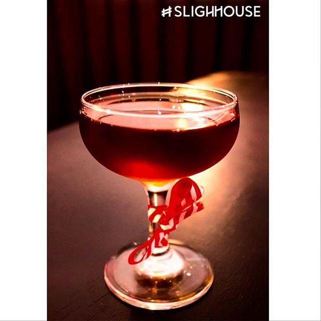 """Auld Bamboo"" - a #slighhouse winter cocktail! - Tawney Port, lemon infused cocci, kaluha, pimento dram. #cocktails #edinburghcocktails #edinburghrestaurants #georgeivbridge"