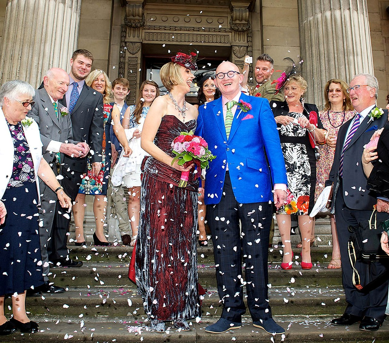 fiona-david-wedding-blue-silk-bespoke-jacket-checked-trousers-wool-cashmere-all-uk-made.jpg