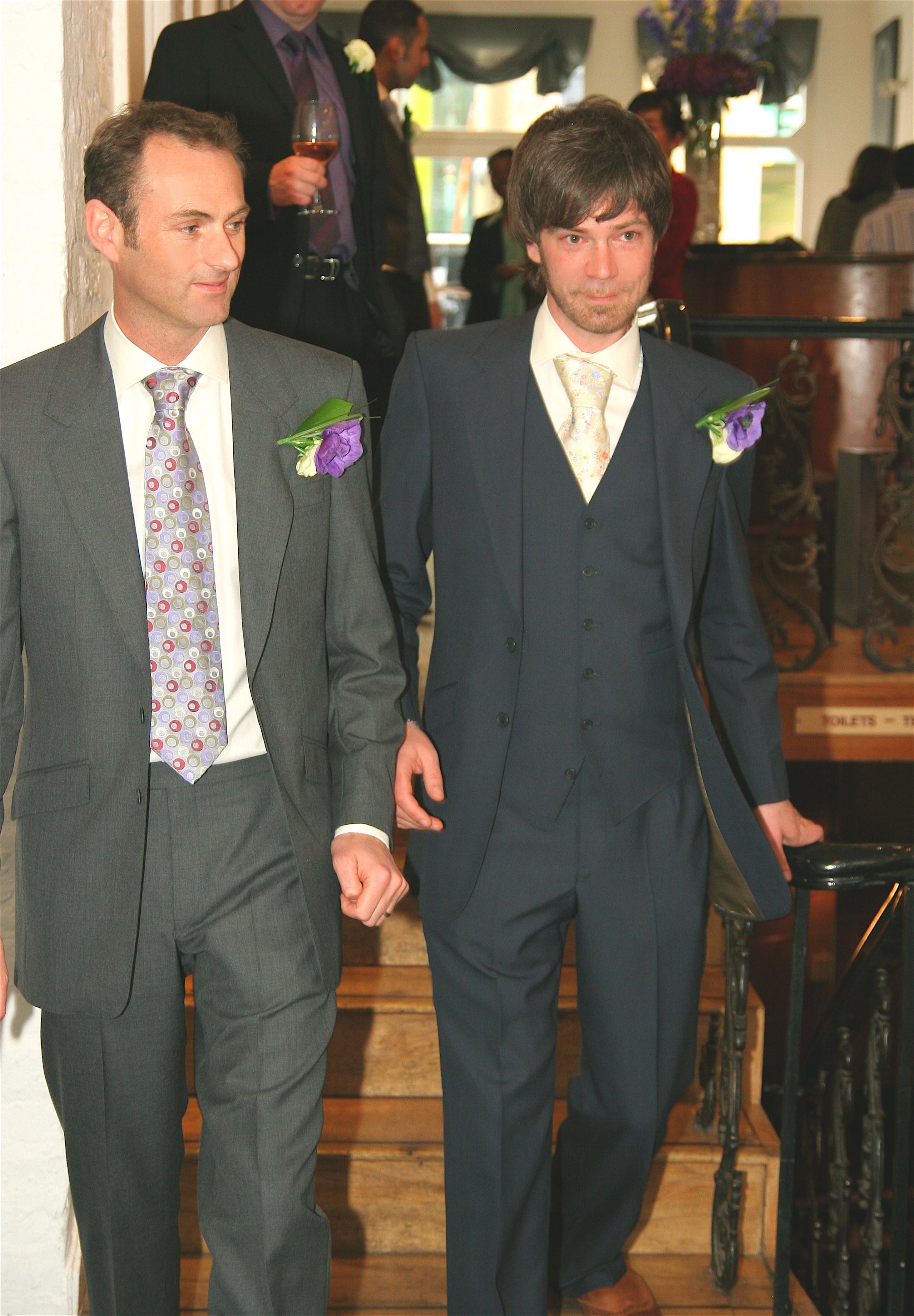 paul-gerrard-wedding-civil-partnership-gay-same-sex-navy-three-piece-suit-grey-two-piece-bespoke-all-uk-made.JPG