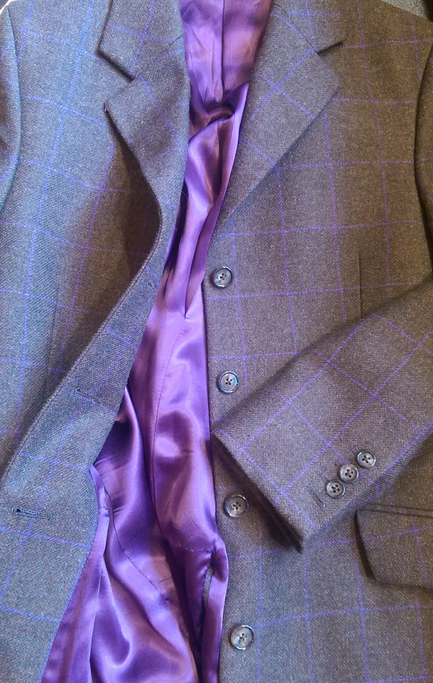 brown-purple-overcheck-tweed-long-ladies-jacket-bespoke-purple-lining-all-uk-made.jpg