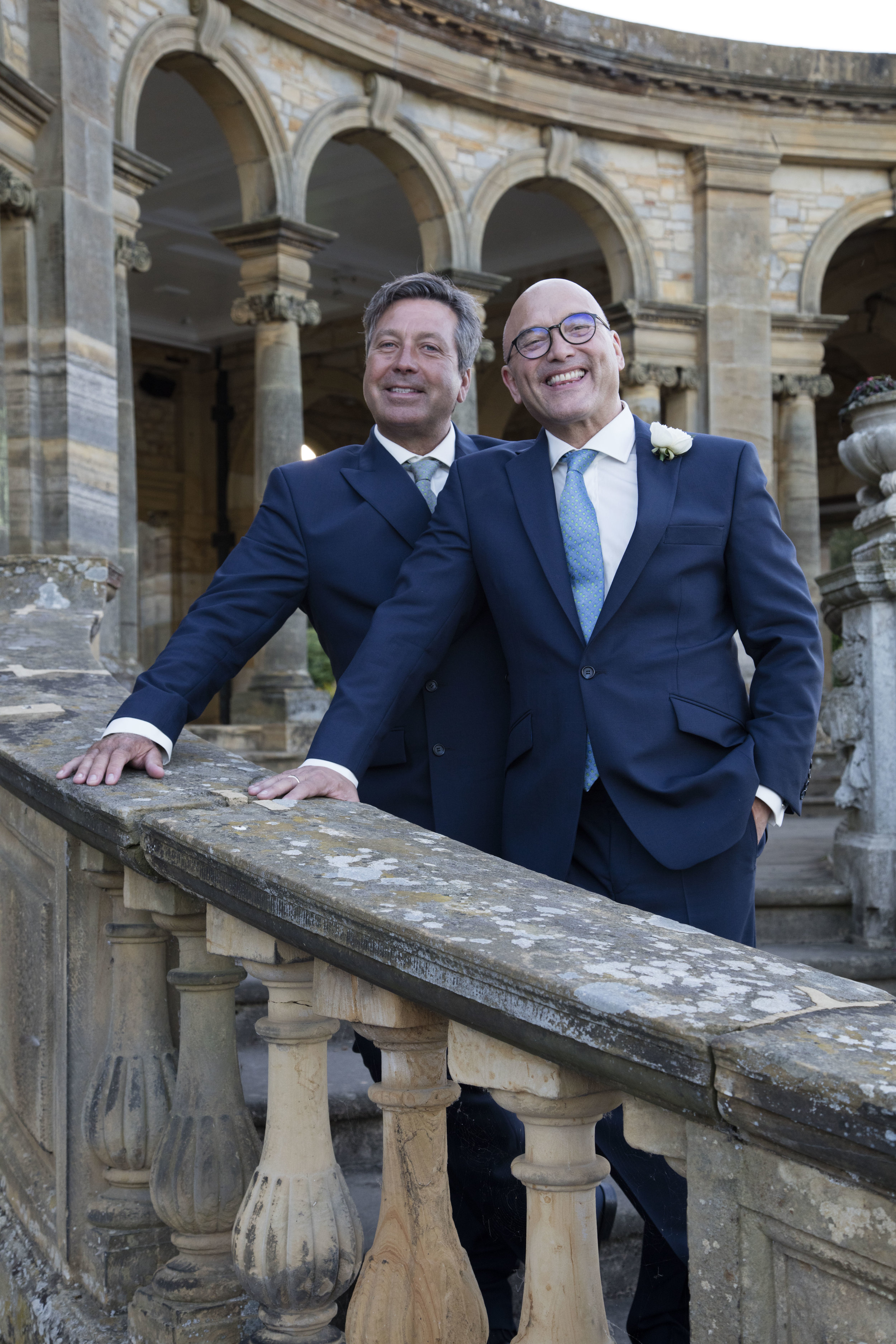 gregg-wallace-john-torode-celebrity-wedding-masterchef-blue-mohair-suit-british-all-uk-made-augustus-hare-tie-office-smoothie-shirt.jpg
