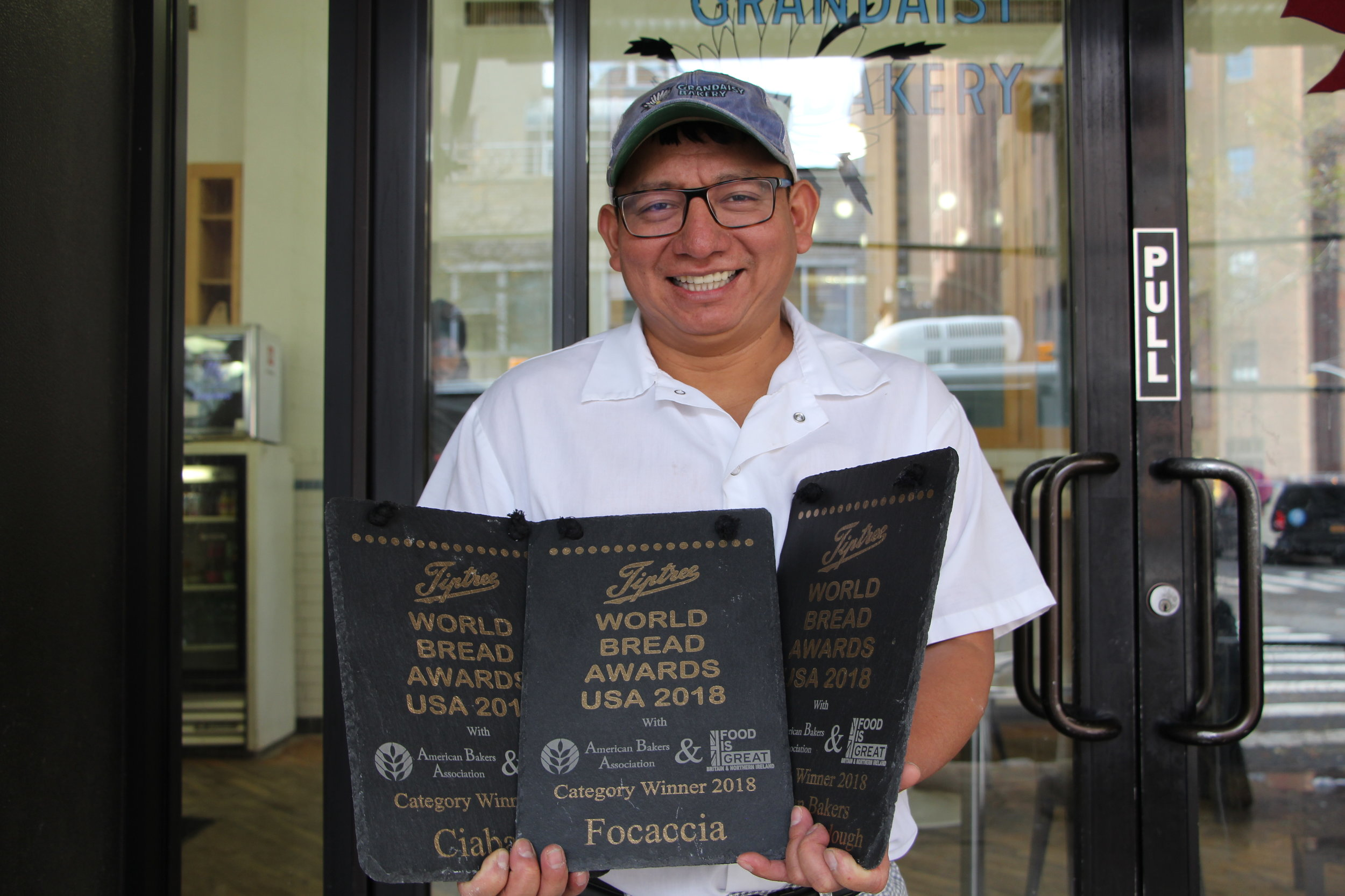 Award Winners! - Our head baker took home three of the top prizes at the Tiptree World Bread Awards USA, for our ciabatta grande, pizza bianca, and pane pugliese!