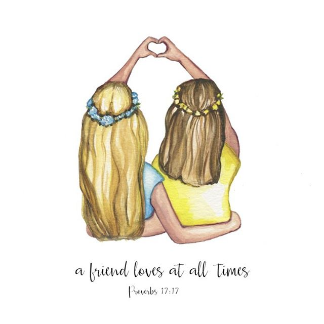 A special custom piece for my super sweet niece @annaleahcm 💜 I had so much fun painting it for her and her best-friend!! #christian #christiancreative #shepaintstruth #bibleverse #bibleverses #biblequotes #watercolor #watercolour #bestfriends #bestfriendsever #watercolorpainting #artistsoninstagram #artoftheday #christianart #bestfriends4life #etsyshop #etsyseller #etsysellersofinstagram