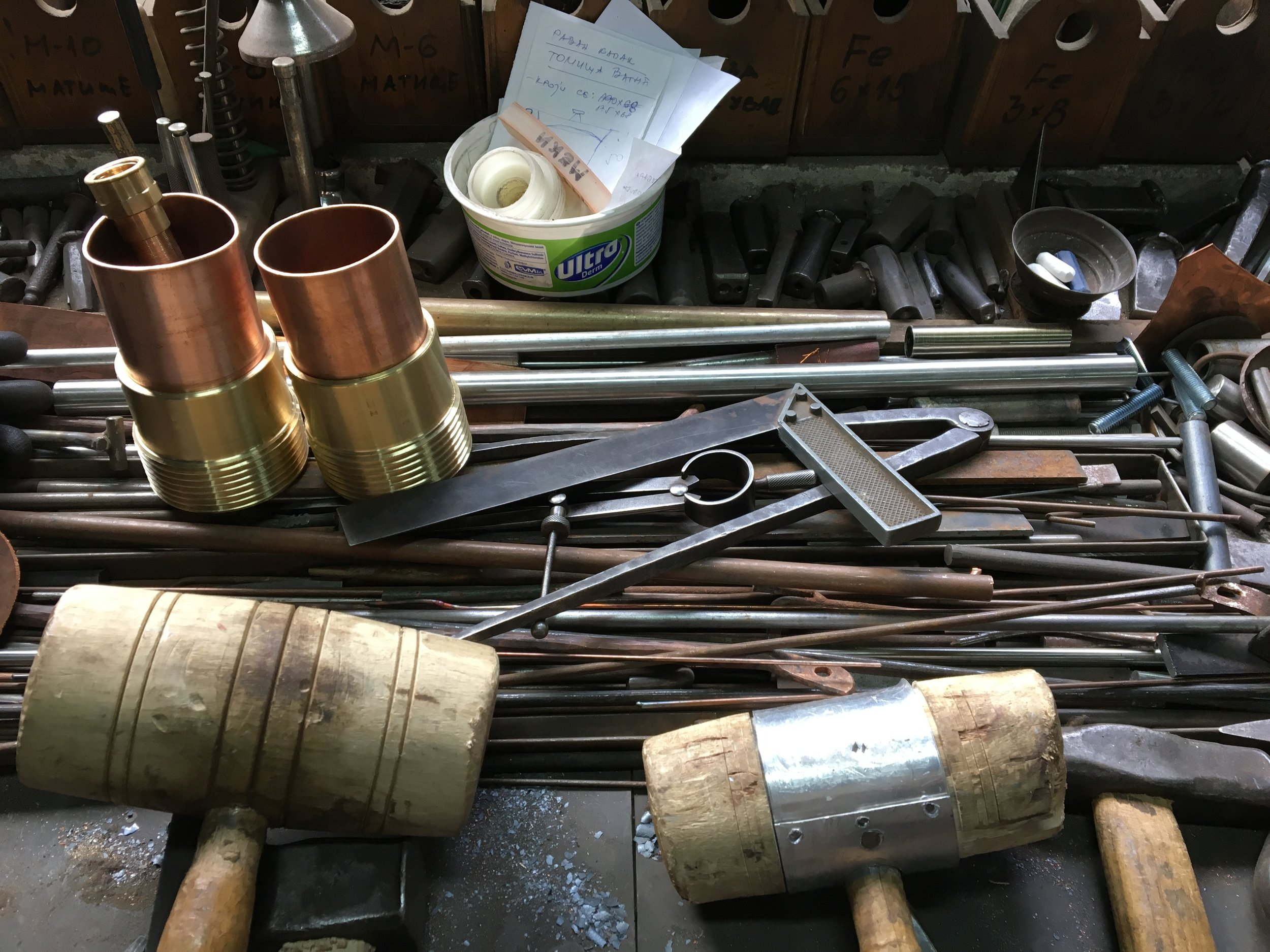 Tools of the trade found inside Nenad's Novi Sad shop…