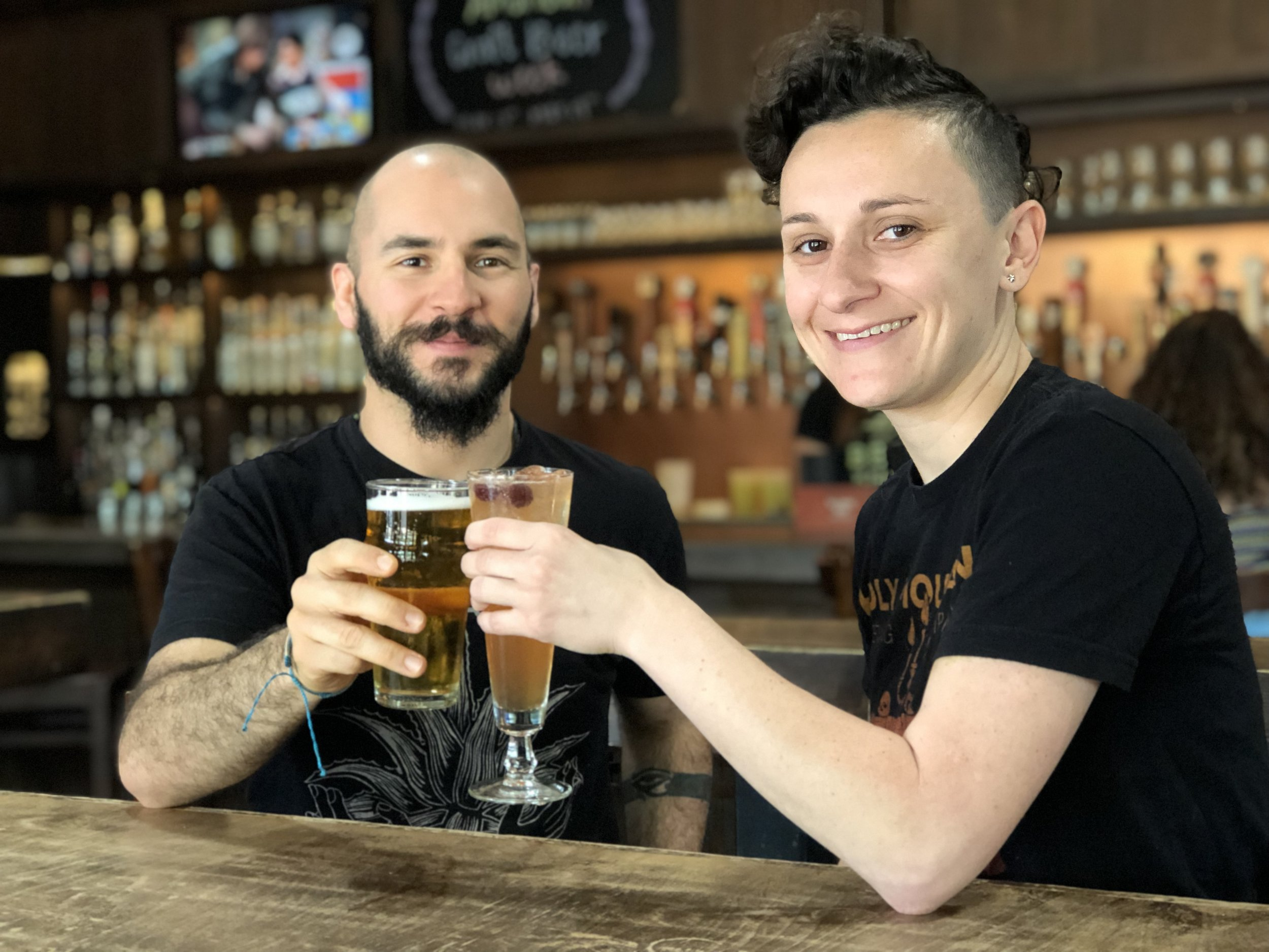 Ricardo Ruiz and Brittany Dinhobl of Hoppy Monk