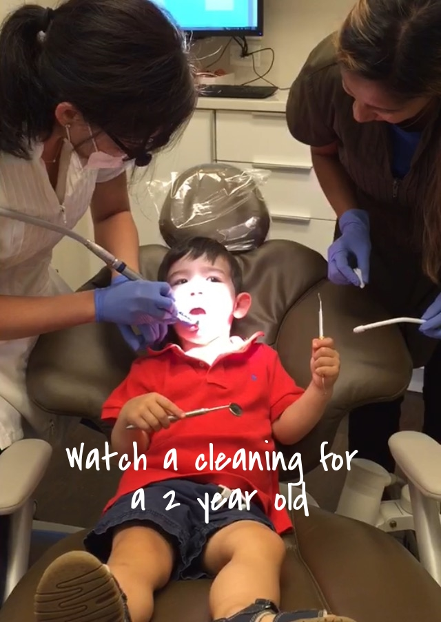 Dental cleaning for a 2 year old