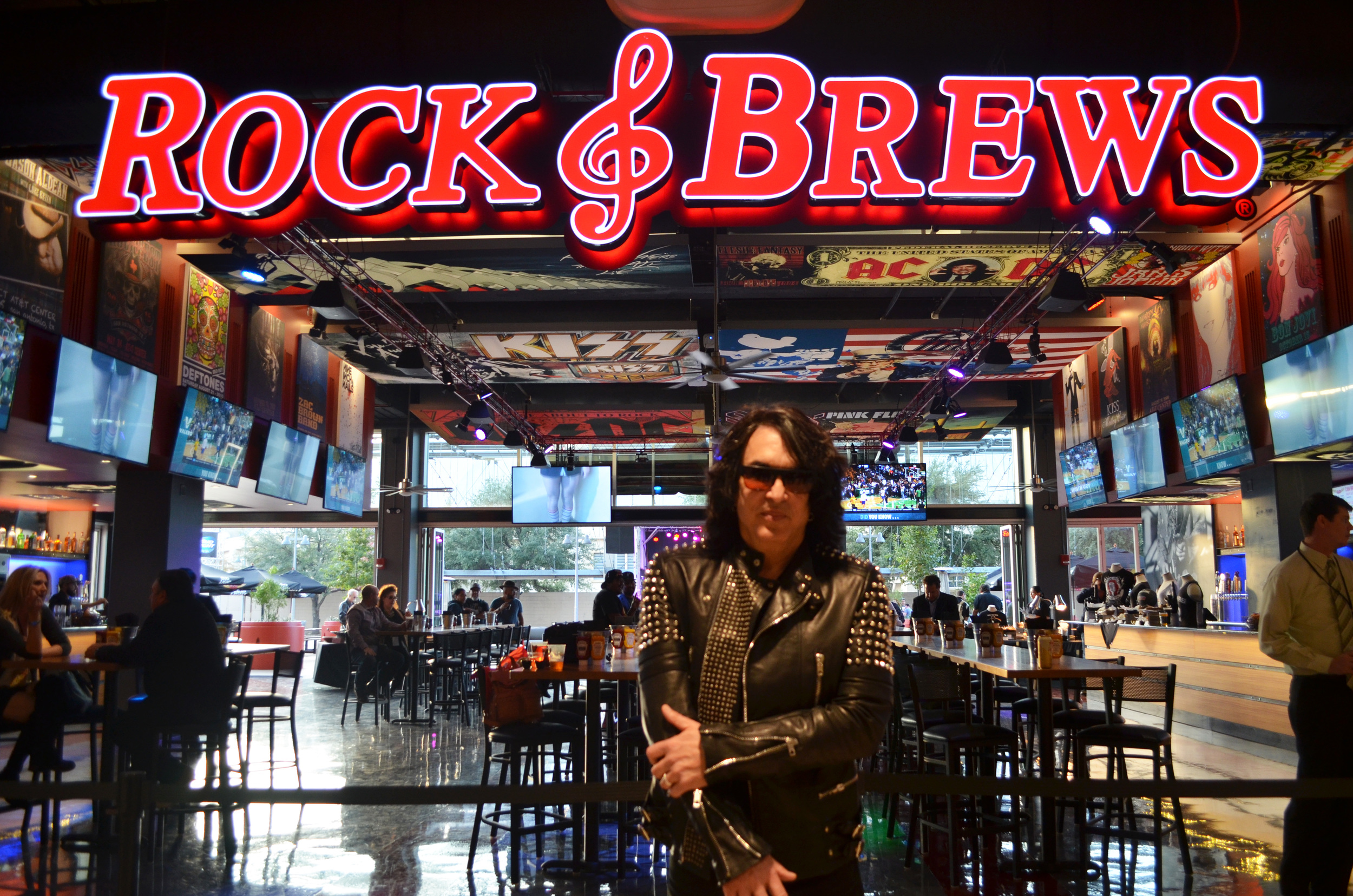 KISS founders Gene Simmons and Paul Stanley (pictured)open first Rock & Brews in Texas at AT&T Center. All photos by Alyssa Bunting