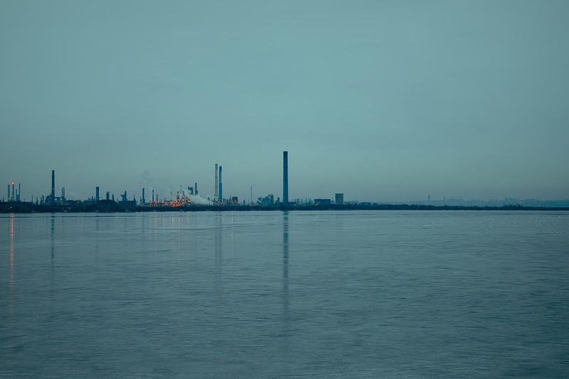 Lake Tașaul, a lagoon bordering the Petromidia refinery close to Constanta on the Black Sea.