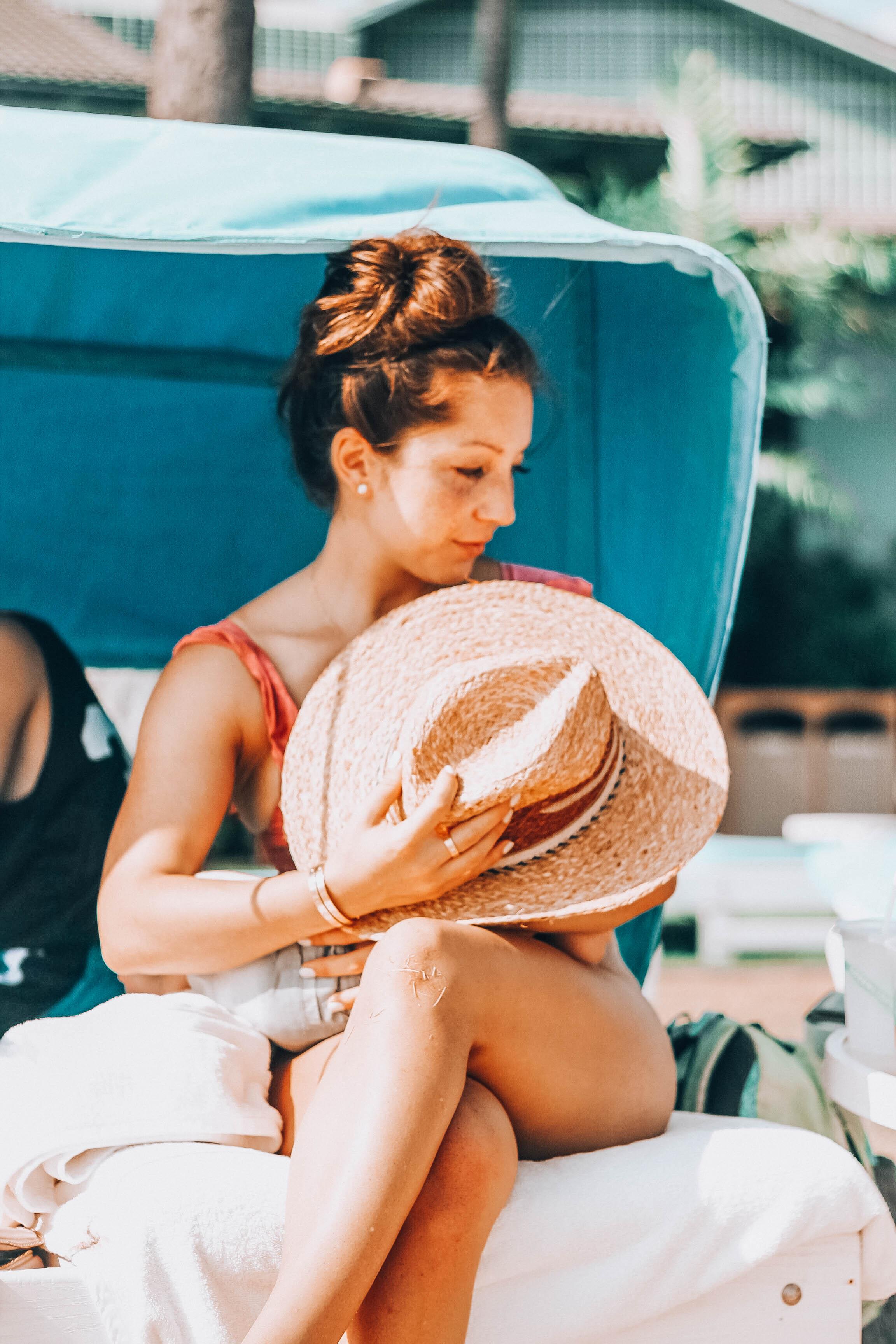 comfy cabana you can rent at the Kahala Hotel