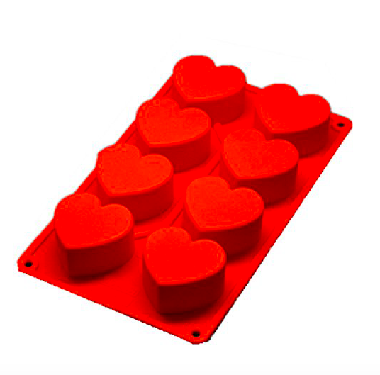 I used silicone  heart molds  similar to this…