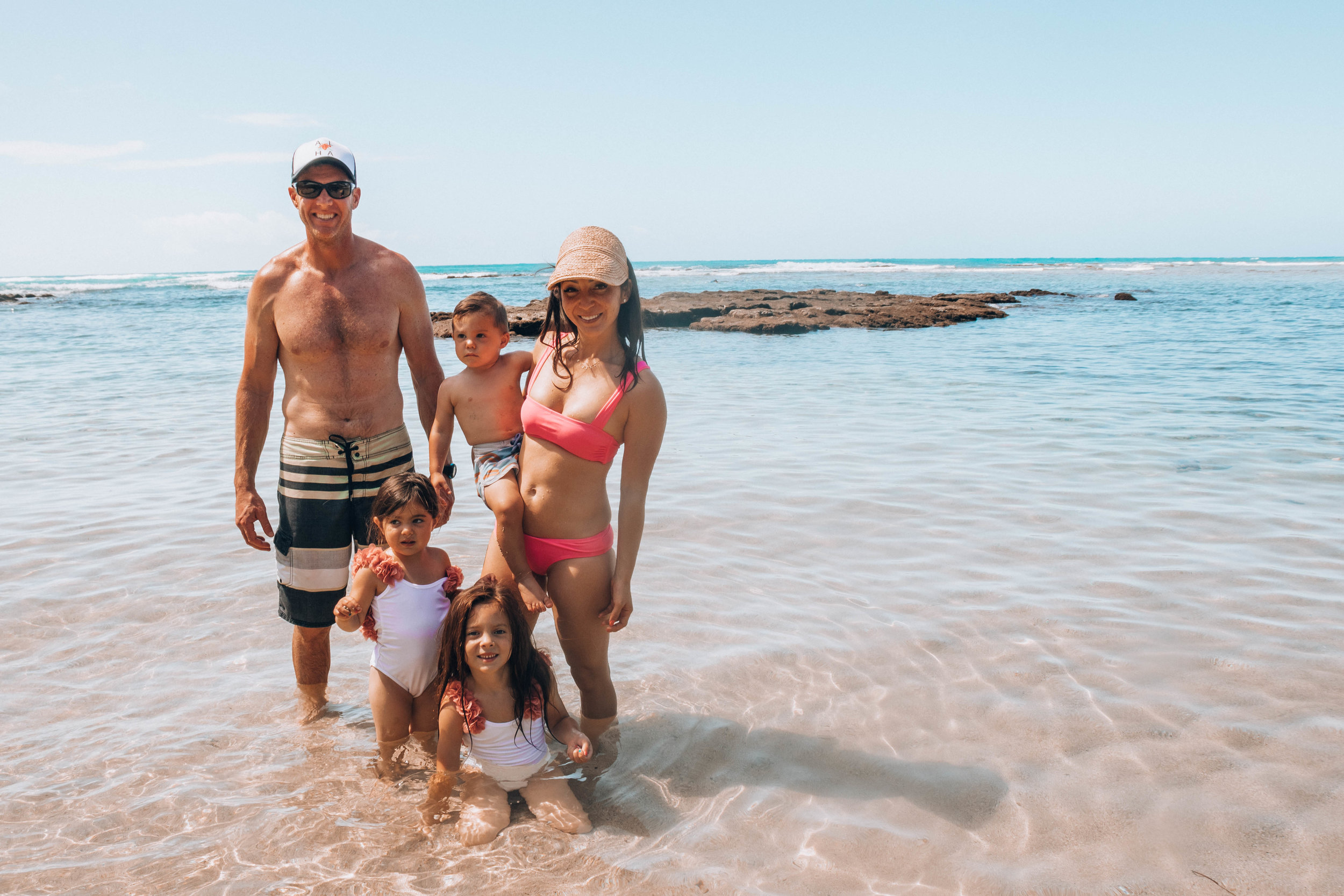 Family beach day at Cromwell's