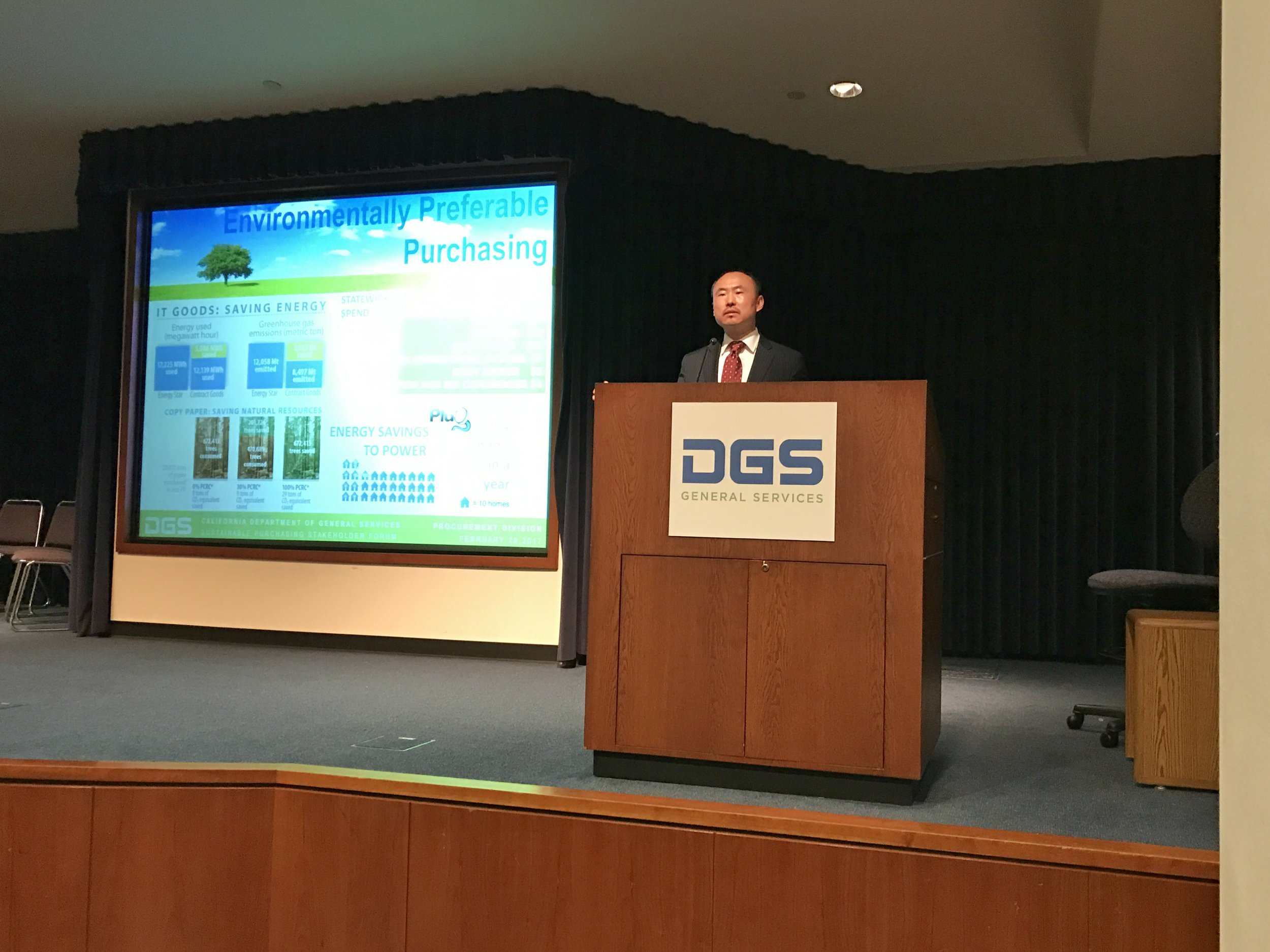 Director Daniel G. Kim discusses Environmentally Preferable Purchasing