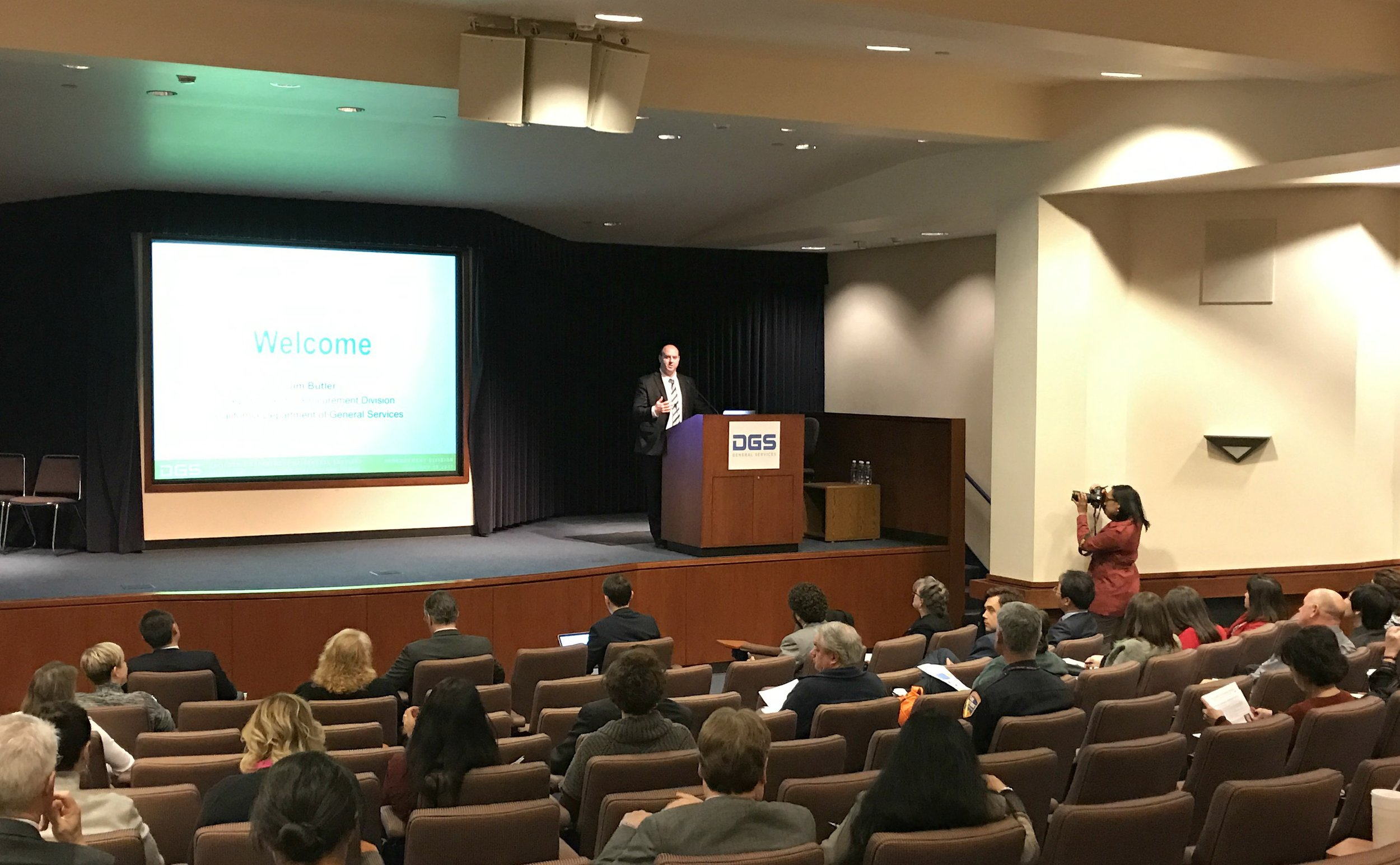 Jim Butler presents opening remarks