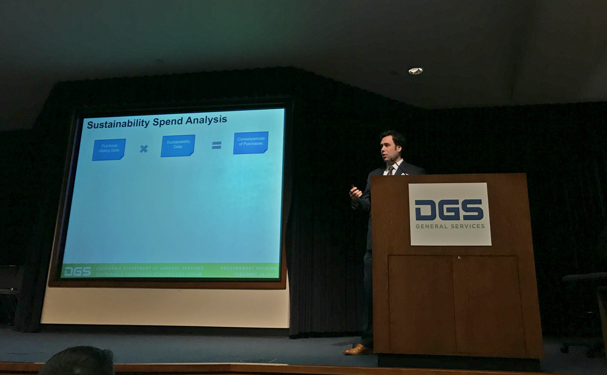 Dr. Joe Bergesen of IERS explains process used for spend analysis project