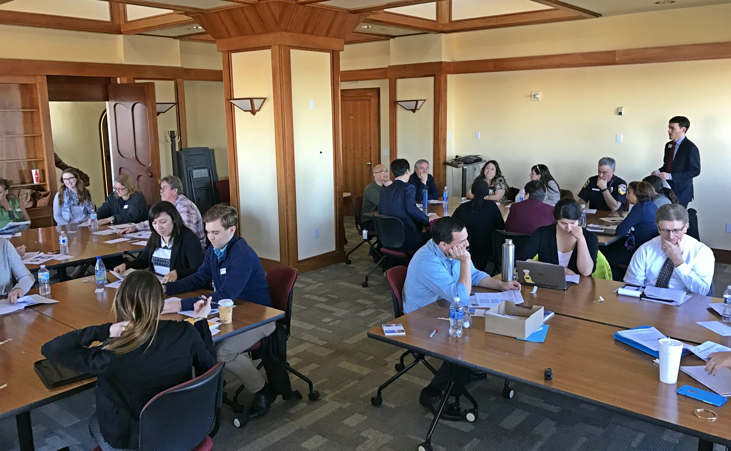 Particpants break out into groups for Sustainable Purchasing Strategy Development Workshop