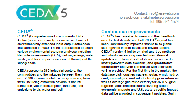 A downloadable brochure summarizing the comprehensive environmental data archive.