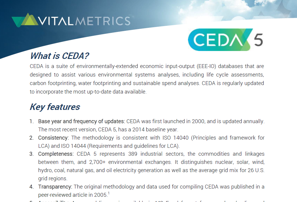 BROCHURE : CEDA USES & APPLICATIONS